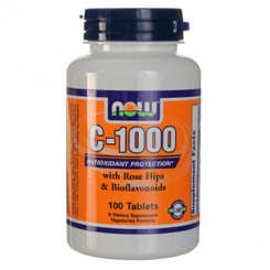 VITAMIN C-1000 WITH ROSE HIPS 100 TABLETS