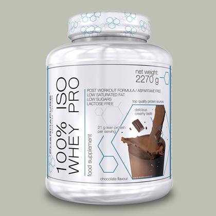 Proteine 100% ISO WHEY PRO 2,27 KG di Pharmapure su integratorisportebenessere.it