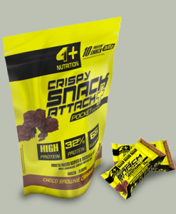 CRISPY SNACK ATTACK+ 10×15 grammi di 4+ Nutrition Nutrition su integratorisportebenessere.it