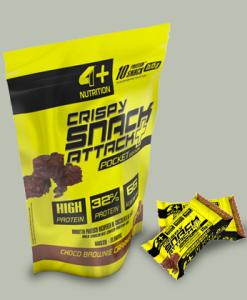 CRISPY SNACK ATTACK+ 10×15 grammi di 4+ Nutrition Nutrition su integratorisportebenessere.it