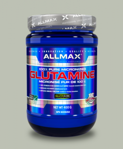100% Glutamine 400 grammi di AllMax Nutrition su integratorisportebenessere.it