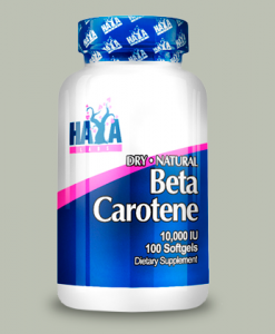 Natural Beta-Carotene 10.000IU 100 softgels di Haya Labs su integratorisportebenessere.it